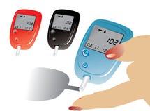 Strumentazione del diabete Immagine Stock