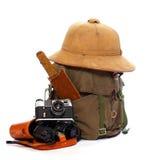 Strumentazione dell'annata per i viaggiatori. fotografia stock