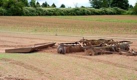 Strumentazione dell'azienda agricola dell'azienda agricola---un disco e una scheda della direzione Fotografie Stock Libere da Diritti