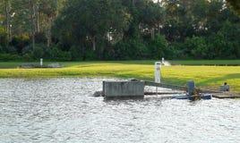 Strumentazione dello stabilimento d'incubazione dei pesci Fotografie Stock