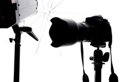 Strumentazione dello studio della foto Fotografie Stock Libere da Diritti