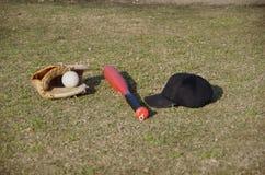 Strumentazione di baseball per i bambini Fotografia Stock