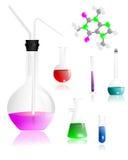 Strumentazione di chimica, vettore dei cdr Fotografia Stock
