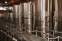 Strumentazione di fabbricazione di vino Immagini Stock