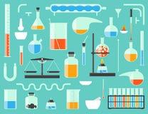 Strumentazione di laboratorio chimica Fotografie Stock Libere da Diritti