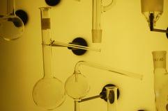 Strumentazione di laboratorio di vetro Fotografie Stock Libere da Diritti