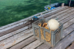 Strumentazione di pesca Fotografie Stock Libere da Diritti