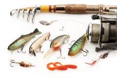 Strumentazione di pesca immagini stock
