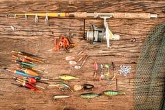 Strumentazione di pesca fotografia stock