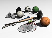 Strumentazione di sport Immagini Stock Libere da Diritti