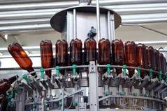 Strumentazione moderna della fabbrica di birra Fotografia Stock Libera da Diritti