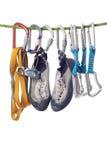 Strumentazione per arrampicarsi Fotografia Stock