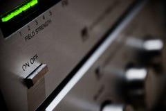 Strumentazione stereo ad alta fedeltà dell'annata Fotografia Stock Libera da Diritti