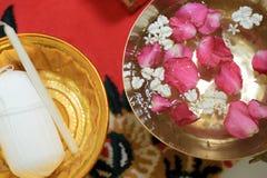 Strumentazione tailandese dell'oggetto di cerimonia di cerimonia nuziale Fotografia Stock Libera da Diritti
