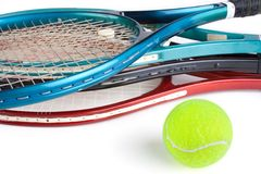 Strumentazioni di tennis Fotografia Stock Libera da Diritti