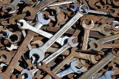 Strumenti arrugginiti del metallo Fotografia Stock