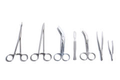 Strumenti chirurgici isolati Fotografie Stock