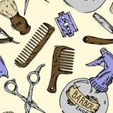 Strumenti d'annata del negozio di barbiere royalty illustrazione gratis