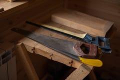 Strumenti d'annata del ` s del carpentiere Immagini Stock Libere da Diritti