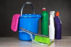 Strumenti dei prodotti di pulizia Fotografia Stock