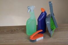 Strumenti dei prodotti di pulizia Fotografie Stock