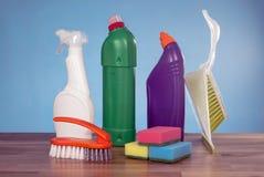 Strumenti dei prodotti di pulizia Fotografia Stock Libera da Diritti