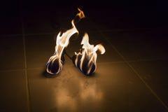 Strumenti del ballerino del fuoco Fotografie Stock Libere da Diritti