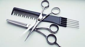 Strumenti del barbiere fotografia stock libera da diritti