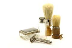 Strumenti del barbiere dell'annata fotografia stock