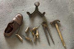 Strumenti del calzolaio Fotografia Stock Libera da Diritti