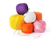 Strumenti del Crochet Fotografia Stock