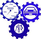 Strumenti del meccanico e di servizio di automobile Immagini Stock Libere da Diritti