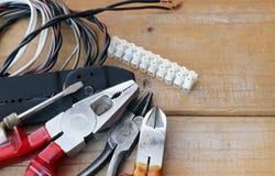Strumenti dell'elettricista Fotografie Stock