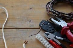Strumenti dell'elettricista Fotografia Stock Libera da Diritti
