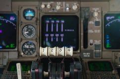 Strumenti della cabina di pilotaggio dell'aeroplano Immagini Stock Libere da Diritti