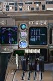 Strumenti della cabina di pilotaggio dell'aeroplano Fotografia Stock