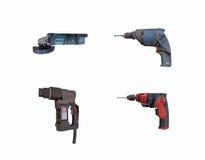 Strumenti della costruzione, attrezzatura, macchina di perforazione manuale Immagini Stock Libere da Diritti