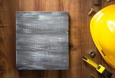 Strumenti della costruzione su legno Fotografie Stock