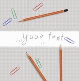 Strumenti della matita Fotografia Stock