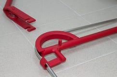Strumenti della piegatrice della metropolitana o della piegatrice del tubo Immagini Stock Libere da Diritti