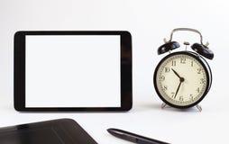 Strumenti di affari orologi della compressa Immagine Stock
