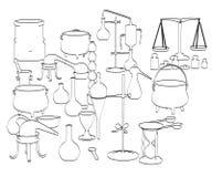 Strumenti di alchemia Fotografie Stock