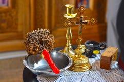 Strumenti di battesimo Fotografia Stock