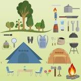 Strumenti di campeggio Immagini Stock