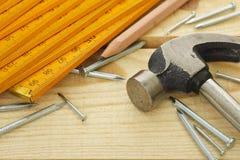 Strumenti di carpenteria Fotografie Stock