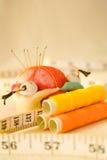 Strumenti di cucito del cinese tradizionale Fotografie Stock