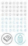 Strumenti di disegno dell'icona Fotografie Stock Libere da Diritti