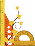 Strumenti di formazione con il Br dell'albero di autunno Fotografia Stock Libera da Diritti