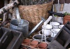 Strumenti di giardinaggio Fotografia Stock
