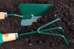 Strumenti di giardinaggio Fotografie Stock